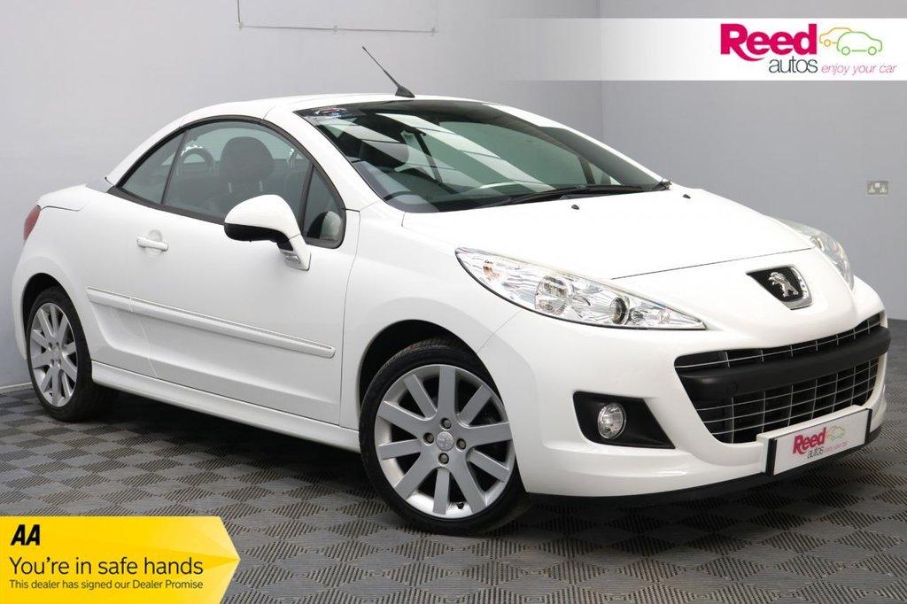 USED 2014 64 PEUGEOT 207 1.6 HDI CC ALLURE 2d 112 BHP 1 OWNER+FULL SERVICE HISTORY+VERY LOW AVERAGE YEARLY MILEAGE+HALF LEATHER SEAT UPHOLSTERY+AUTOMATIC HEADLIGHTS+CRUISE CONTROL