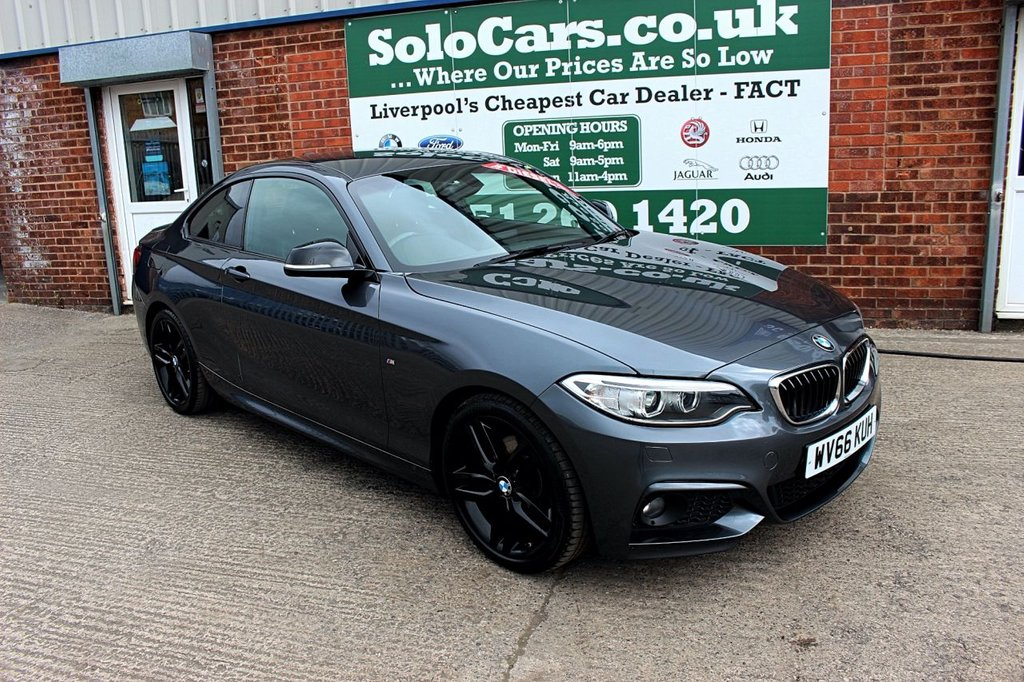 USED 2016 66 BMW 2 SERIES 2.0 220D M SPORT 2d AUTO 188 BHP +SAT NAV +LEATHER +PRIVACY.