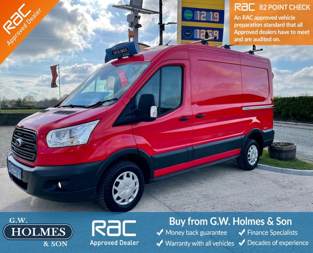 USED 2017 17 FORD TRANSIT TREND 290 2.0 TDCI 130 BHP MWB MED-ROOF L2 H2 **ONLY 14,000 MILES**FSH**