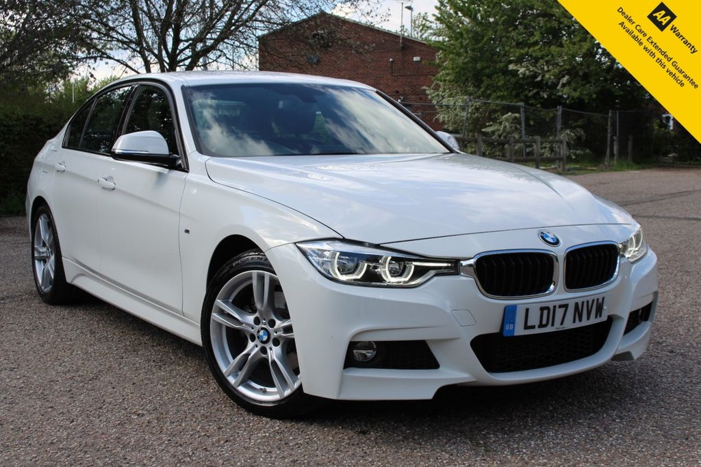 USED 2017 17 BMW 3 SERIES 2.0 320D M SPORT 4d 188 BHP ** SUPERB LOW MILEAGE 8 SPEED AUTO ** FULL SERVICE HISTORY ** FRESHLY SERVICED ** ADVISORY FREE MOT - MAY 2022 ** LEATHER ** SAT NAV ** DAB RADIO ** CRUISE CONTROL ** BLUETOOTH ** REAR PARKING AID ** AUTO LIGHTS + WIPERS ** M SPORT ALLOYS + STEERING WHEEL ** PADDLE GEAR SHIFT ** ULEZ CHARGE EXEMPT ** ONLY £30 ROAD TAX ** BUY ONLINE IN CONFIDENCE FROM A MULTI AWARD WINNING 5* RATED DEALER **