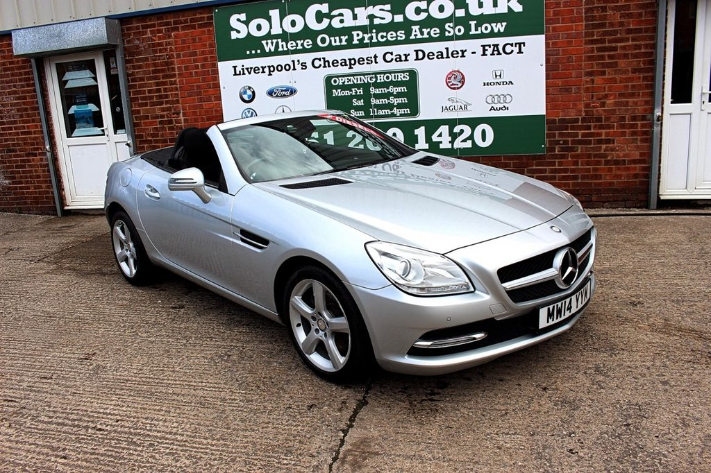 USED 2014 MERCEDES-BENZ SLK 2.1 SLK250 CDI BLUEEFFICIENCY 2d 204 BHP +PANORAMIC ROOF +BLUETOOTH.