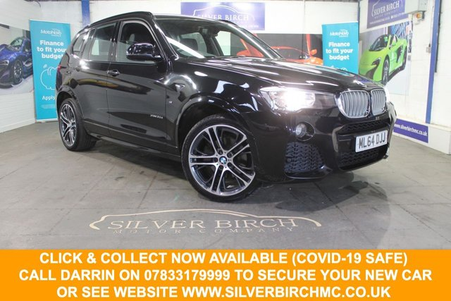 USED 2014 64 BMW X3 3.0 XDRIVE30D M SPORT 5d 255 BHP Low Deposit Finance Available