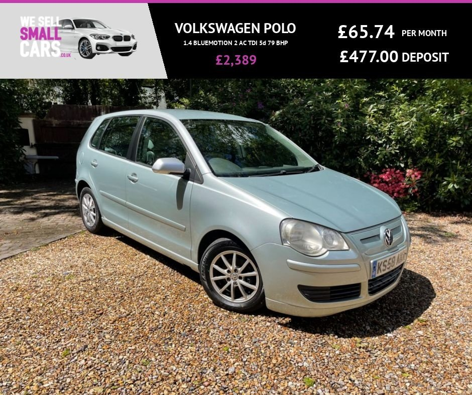 USED 2009 58 VOLKSWAGEN POLO 1.4 BLUEMOTION 2 AC TDI 5d 79 BHP FULL SERVICE HISTORY AIR CONDITIONING ALLOY WHEELS ELC WINDOWS POWERSTEER