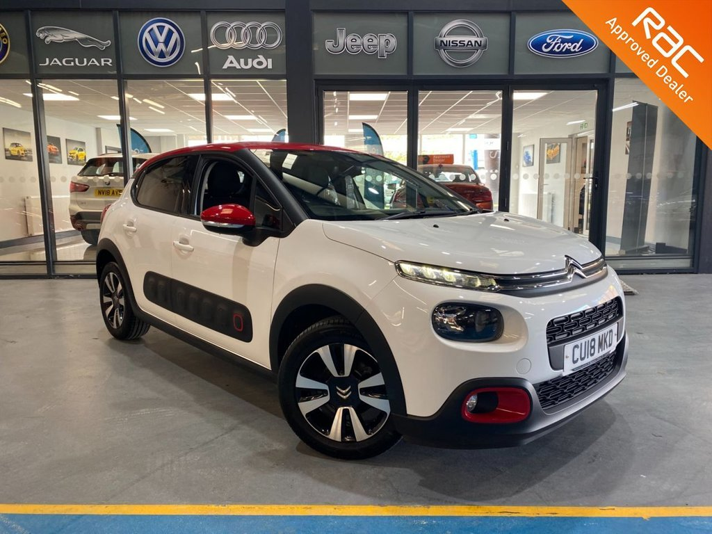 USED 2018 18 CITROEN C3 1.2 PURETECH FLAIR S/S 5d 109 BHP Complementary 12 Months RAC Warranty and 12 Months RAC Breakdown Cover Also Receive a Full MOT With All Advisory Work Completed, Fresh Engine Service and RAC Multipoint Check Before Collection/Delivery
