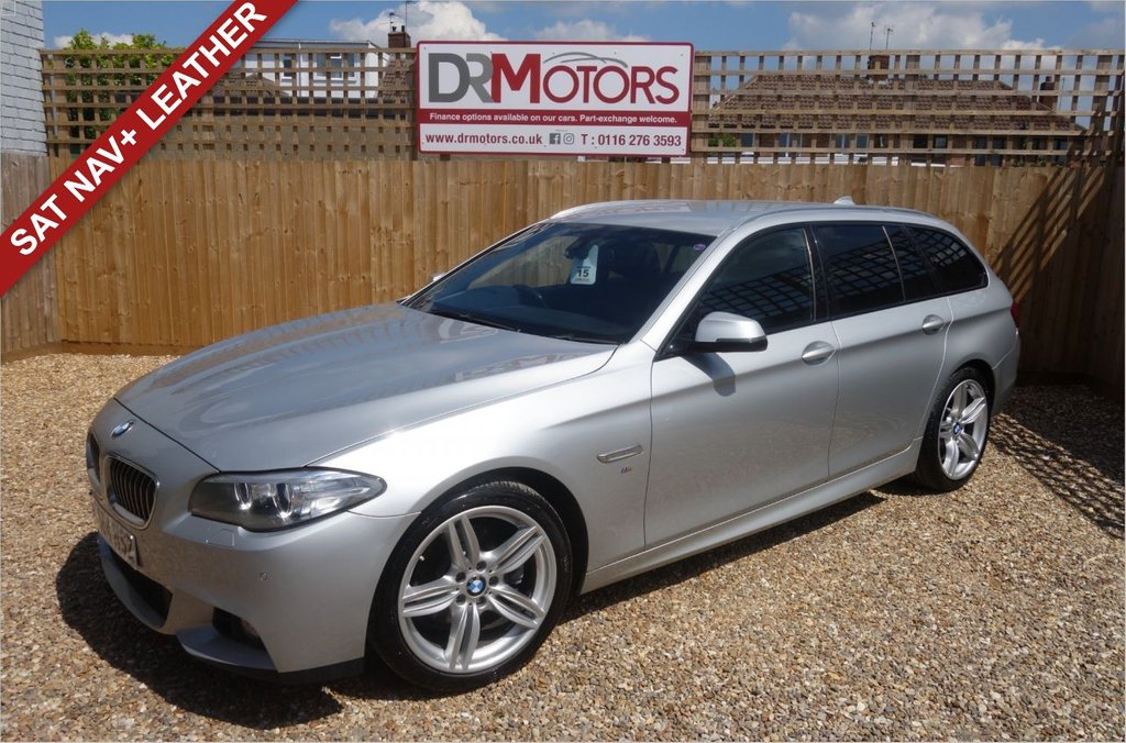 USED 2014 64 BMW 5 SERIES 2.0 520D M SPORT TOURING 5d 188 BHP *** 6 MONTHS NATIONWIDE GOLD WARRANTY ***