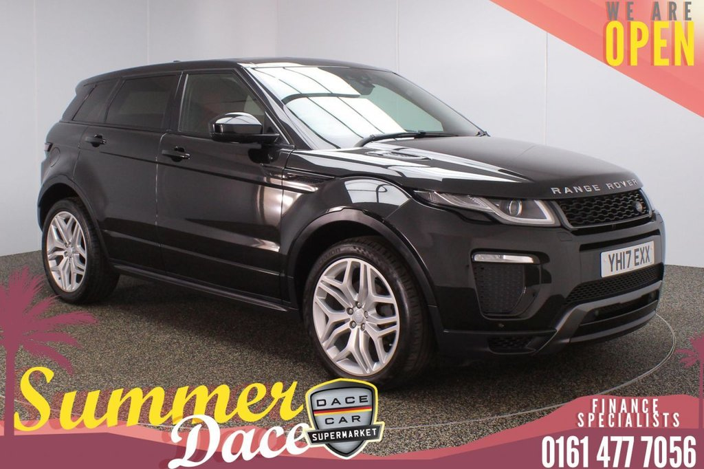 USED 2017 17 LAND ROVER RANGE ROVER EVOQUE 2.0 TD4 HSE DYNAMIC 5DR 177 BHP FULL MAIN DEALER SERVICE HISTORY + HEATED LEATHER SEATS + SATELLITE NAVIGATION + REVERSING CAMERA + PARKING SENSOR + BLUETOOTH + CRUISE CONTROL + CLIMATE CONTROL + MULTI FUNCTION WHEEL + XENON HEADLIGHTS + PRIVACY GLASS + DAB RADIO + USB PORT + ELECTRIC/MEMORY FRONT SEATS + ELECTRIC WINDOWS + ELECTRIC/HEATED/FOLDING DOOR MIRRORS + 20 INCH ALLOY WHEELS