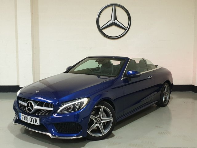 USED 2018 18 MERCEDES-BENZ C-CLASS 2.1 C 220 D AMG LINE 2d 168 BHP Very Low Miles/1 Owner/ Heated Leather/ Sat-Nav /Camera