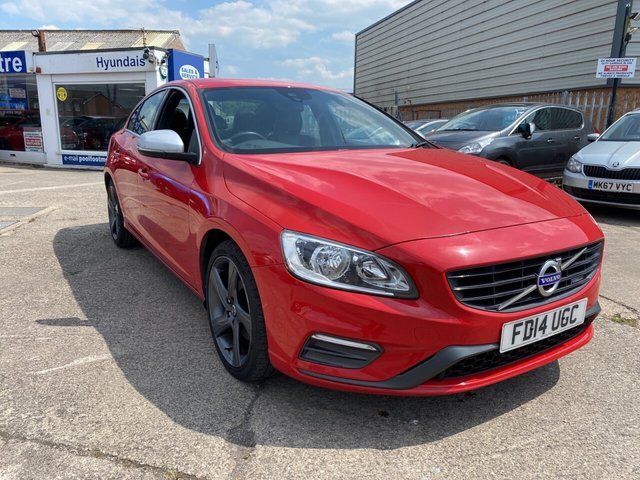 USED 2014 14 VOLVO S60 2.0 D3 R-DESIGN NAV 4d 134 BHP FINANCE ARRANGED**PART EXCHANGE WELCOME**£30 TAX*SAT NAV*CRUISE*6 SPEED*BLUETOOTH*DAB*PART LEATHER*SERVICE HISTORY