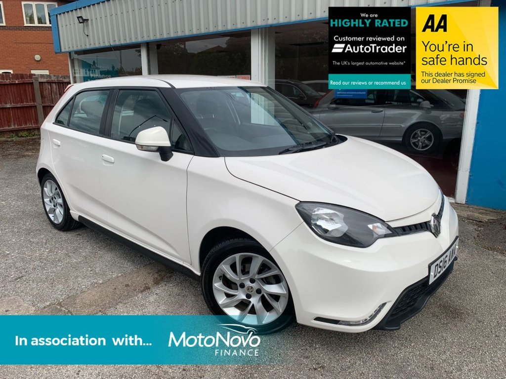 USED 2016 16 MG 3 1.5 3 FORM SPORT VTI-TECH 5d 106 BHP BLUETOOTH, AIR CONDITIONING, ISOFIX