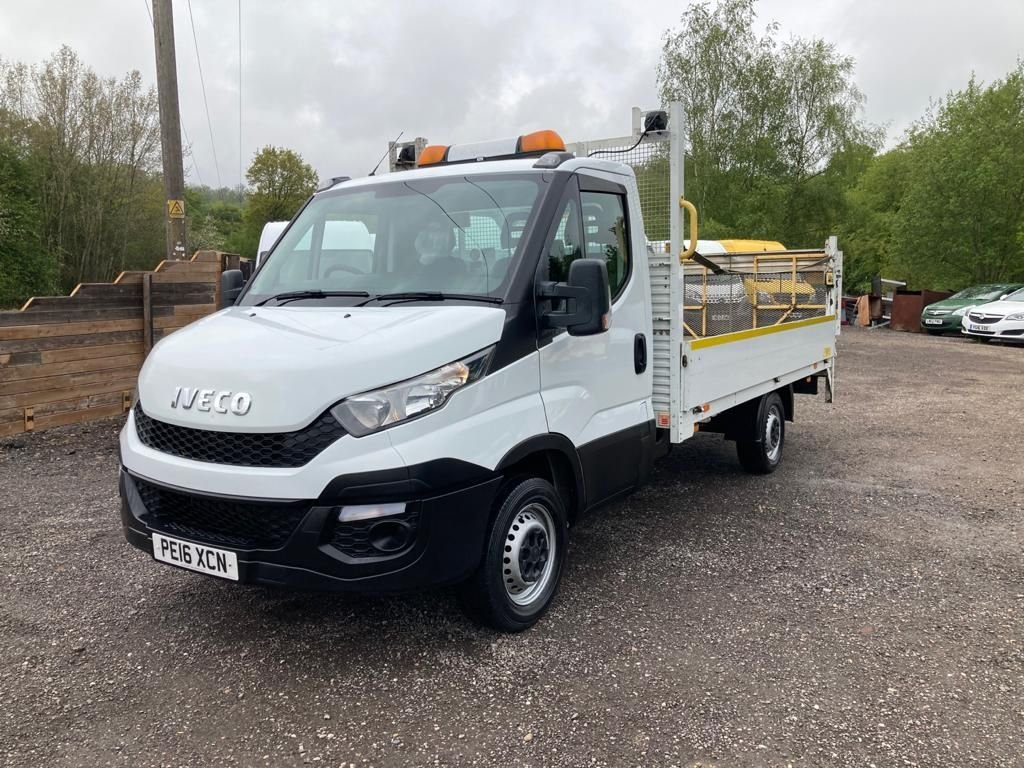 USED 2016 16 IVECO DAILY 2.3 35S13 130 BHP DROP SIDE TRUCK