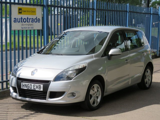 USED 2010 60 RENAULT SCENIC 1.6 DYNAMIQUE TOMTOM VVT 5d 109 BHP. SAT NAV-CRUISE CONTROL-AIR CON-ALLOYS SAT NAV-CRUISE-BLUETOOTH-C/D-AIR CON-ALLOYS-SERVICE HISTORY-ABS