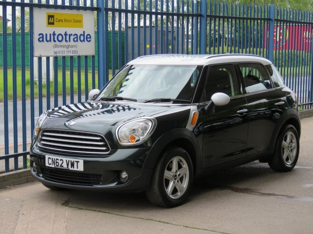 USED 2012 62 MINI COUNTRYMAN 1.6 COOPER 5dr 122 Air conditioning-Roof rails-Alloys-CD player Finance arranged Part exchange available Open 7 days