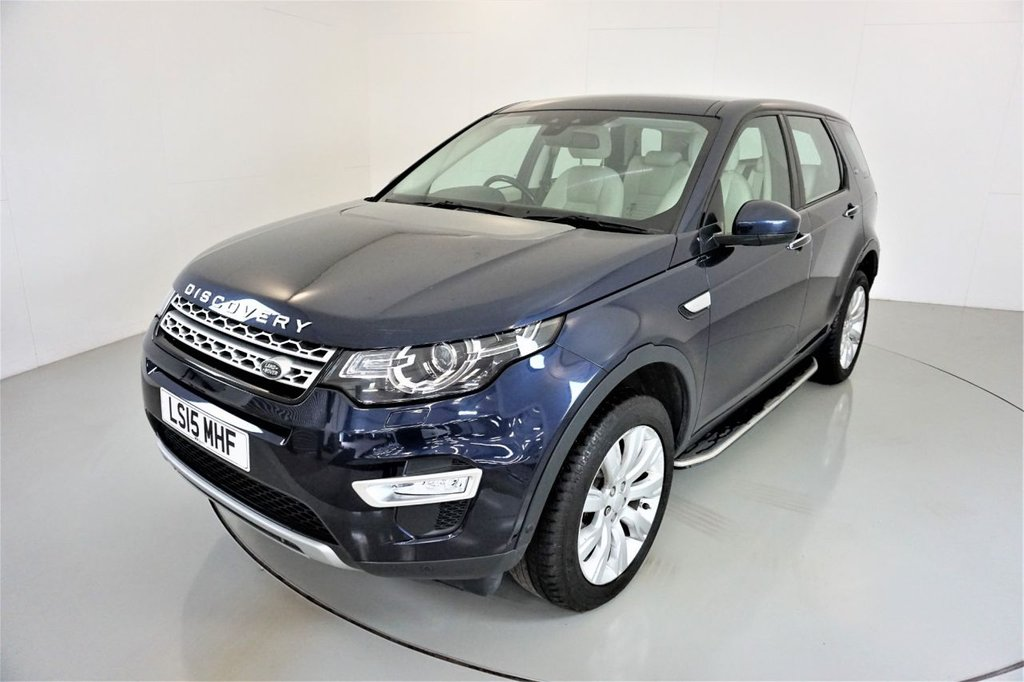 USED 2015 15 LAND ROVER DISCOVERY SPORT 2.2 SD4 HSE LUXURY 5d-2 OWNER CAR-PANORAMIC ROOF-HEATED IVORY LEATHER-BLUETOOTH-CRUISE CONTROL-SATNAV-PARKING SENSORS-DAB RADIO-CLIMATE CONTROL