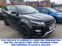 USED 2015 15 LAND ROVER RANGE ROVER EVOQUE 2.2 SD4 DYNAMIC LUX 5d 190 BHP Spec Including Ambient Lighting Cruise Control Bluetooth Full Park Asssit DAB Front/Rear Parking Aid & Surround Camera View Heated Front Seats & Windscreen Sat Nav Proximity Mirror Camera Keyless Entry Stop/Start System Fixed Panoramic Roof Powered Tailgate Voice Activated Controls TPMS in Santorini Black with Black Leather Interior  Stunning in Santorini Black