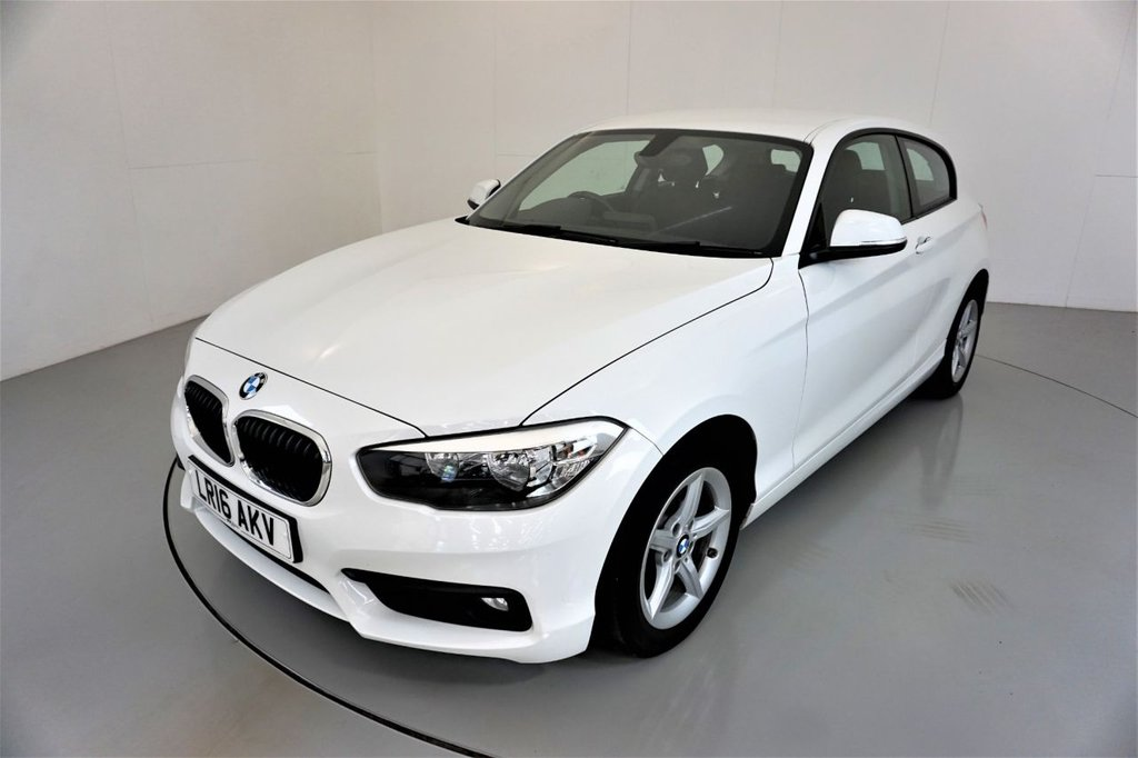 USED 2016 16 BMW 1 SERIES 1.5 116D SE 3d-2 OWNER CAR-BLUETOOTH-SPEED LIMITER-SATNAV-16