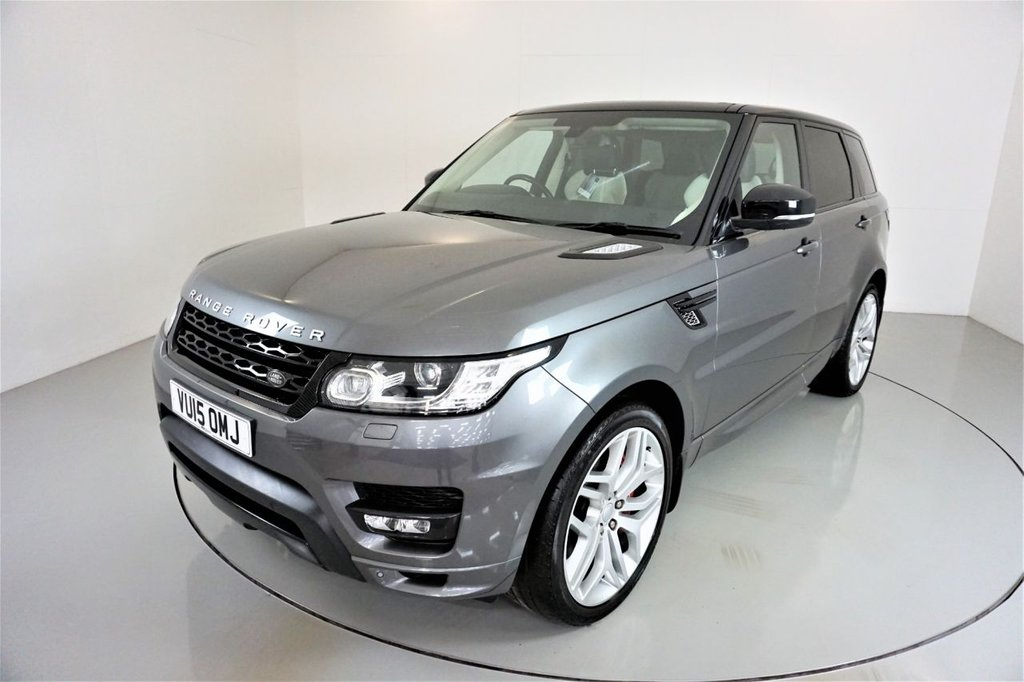USED 2015 15 LAND ROVER RANGE ROVER SPORT 3.0 SDV6 AUTOBIOGRAPHY DYNAMIC 5d AUTO-2 OWNER CAR-PANORAMIC ROOF-HEATED FRONT AND REAR SEATS-TWO TONE LEATHER-22