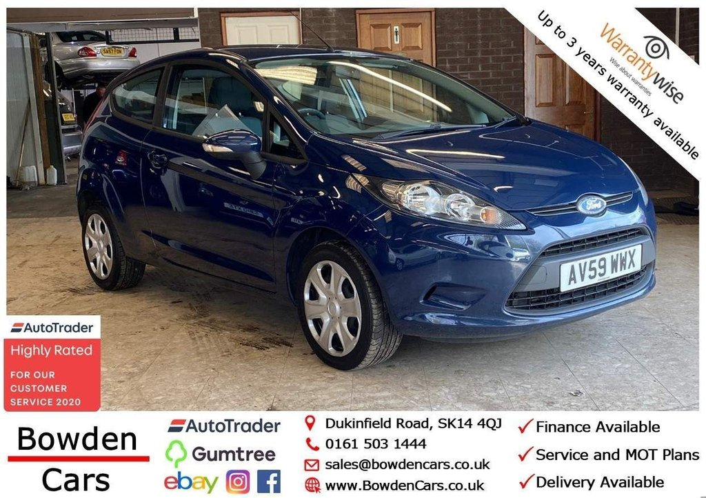 USED 2009 59 FORD FIESTA 1.25 Style 3dr **FREE NATIONWIDE DELIVERY**