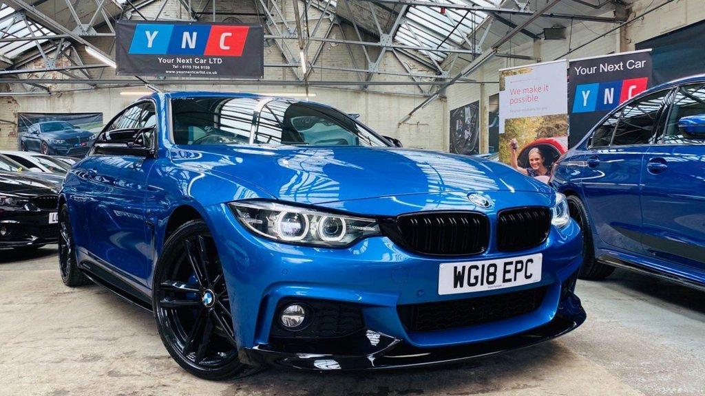 USED 2018 18 BMW 4 SERIES 2.0 420i M Sport (s/s) 2dr PERFORMANCEKIT+REVCAM+PLUSPACK