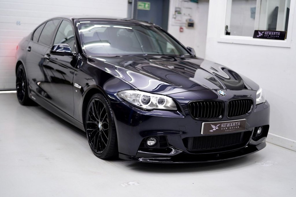 USED 2015 65 BMW 5 SERIES 3.0 530d M Sport 4dr AERO KIT   BLACK 20' ALLOYS