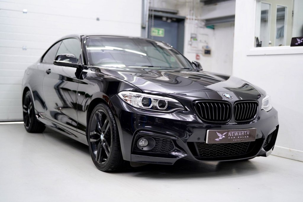 USED 2016 66 BMW 2 SERIES 2.0 218d M Sport (s/s) 2dr TRIPLE BLACK | FULL LEATHER
