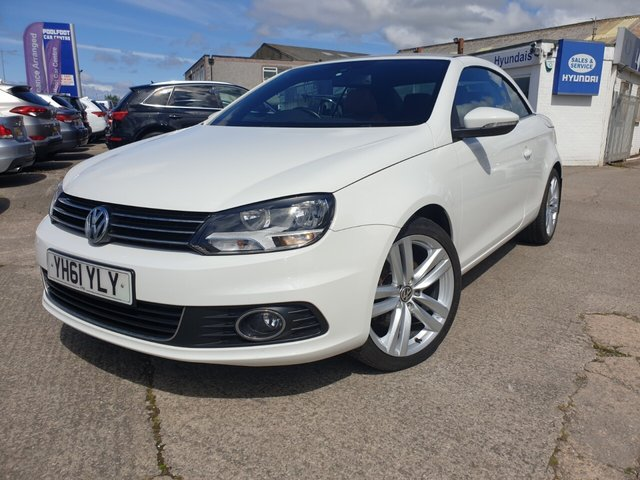 USED 2011 61 VOLKSWAGEN EOS 2.0 SPORT TDI BLUEMOTION TECHNOLOGY 2d 139 BHP FINANCE ARRANGED**PART EXCHANGE WELCOME**CONVERTIBLE PAN ROOF*LEATHER*FULL SERVICE HISTORY*R P SENSORS*AC