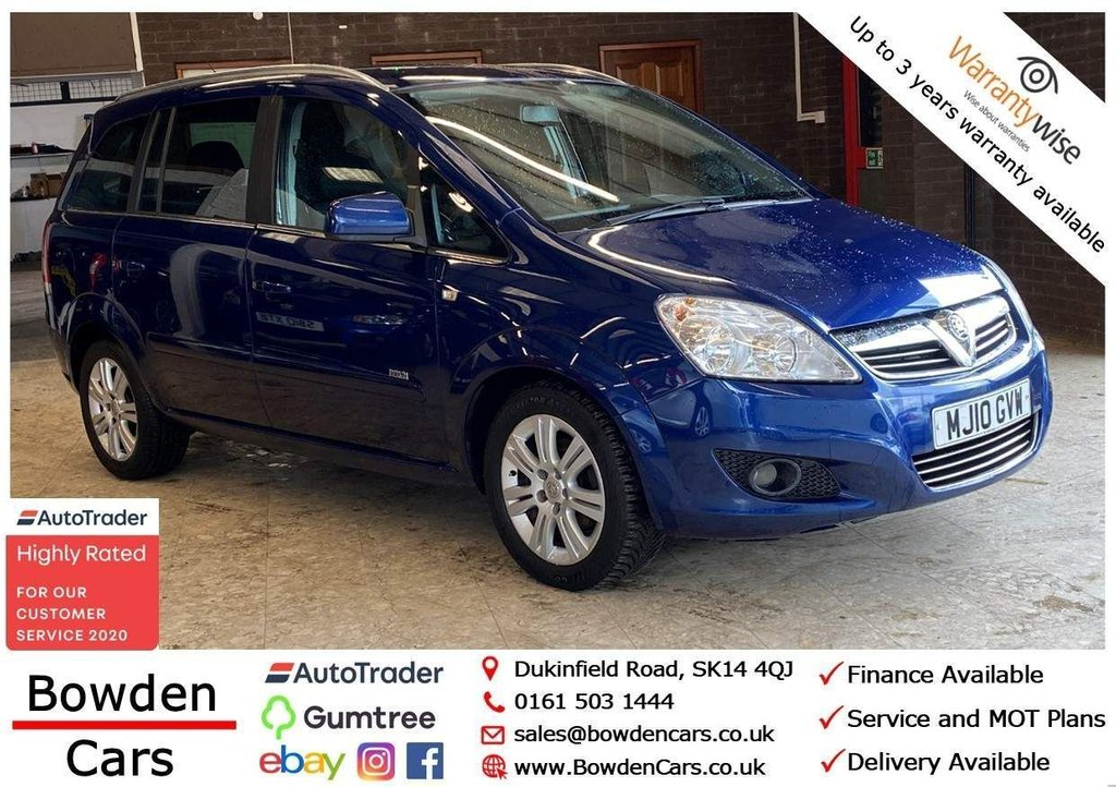 USED 2010 10 VAUXHALL ZAFIRA 1.6 DESIGN 5d 113 BHP **FREE NATIONWIDE DELIVERY**