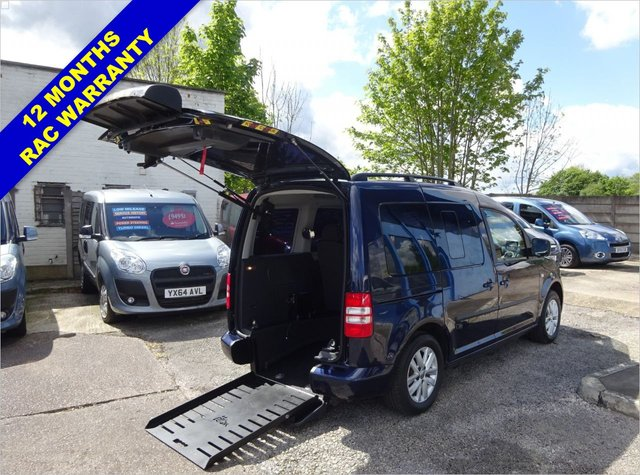 USED 2015 15 VOLKSWAGEN CADDY 1.6 C20 LIFE TDI 5d 101 BHP WHEELCHAIR ACCESS WAV Drive from Wheelchair, only 2,000 miles
