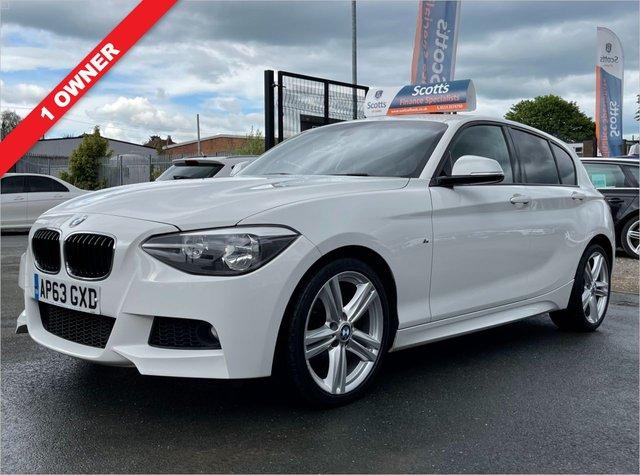 USED 2014 63 BMW 1 SERIES 2.0 116D M SPORT 5 DOOR DIESEL WHITE 1 OWNER BLUETOOTH