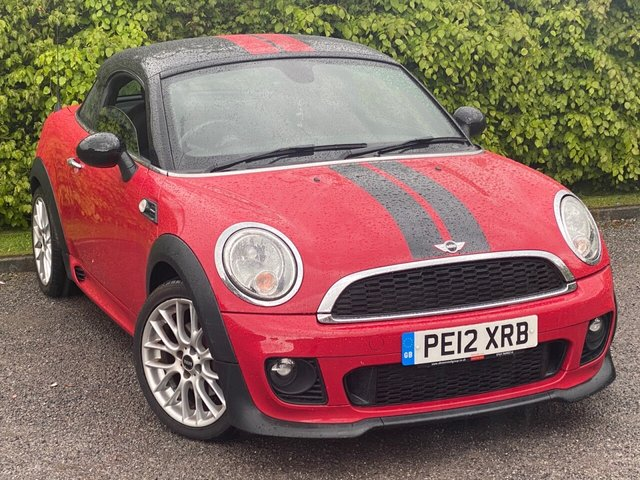 USED 2012 12 MINI COUPE 1.6 COOPER 2d 120 BHP * 1/2 LEATHER INTERIOR * 12 MONTHS FREE AA MEMBERSHIP *