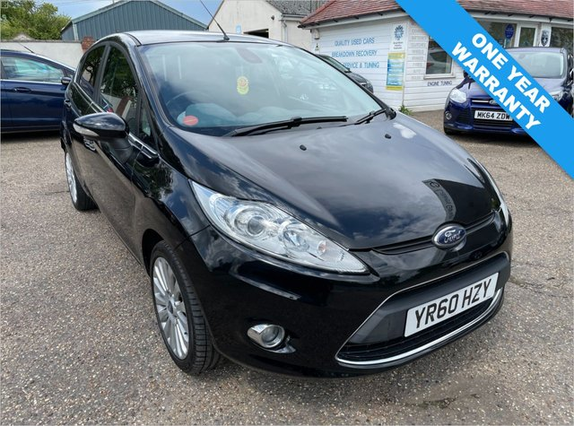 USED 2010 60 FORD FIESTA 1.6 TITANIUM 5d 118 BHP ONE YEAR WARRANTY INCLUDED / VOICE COMMS / USB / BLUETOOTH