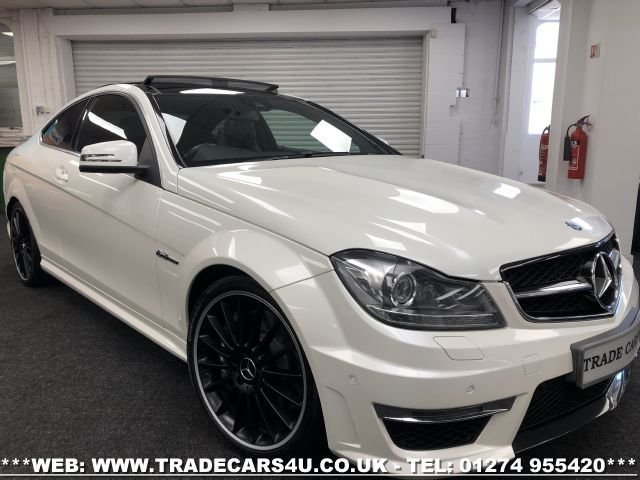 USED 2014 14 MERCEDES-BENZ C-CLASS 6.2 C63 AMG 2d 457 BHP FREE UK DELIVERY*VIDEO AVAILABLE* FINANCE ARRANGED* PART EX*HPI CLEAR