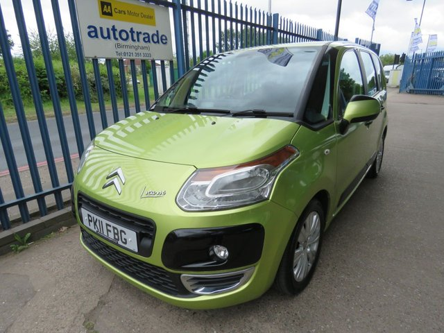 USED 2011 11 CITROEN C3 PICASSO 1.6 VTR PLUS HDI 5d 90 BHP. AIR CON-SERVICE HISTORY WITH 8 STAMPS-BLUETOOTH-CRUISE AIR CON-CRUISE-ALLOYS-C/D-ABS-BLUETOOTH- SERVICE HISTORY WITH 8 STAMPS