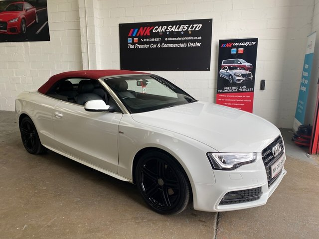 USED 2013 P AUDI A5 2.0 TDI S LINE S/S 2d 177 BHP RED ROOF FULL LEATHERS 19 INCH ALLOYS 2013 MODEL