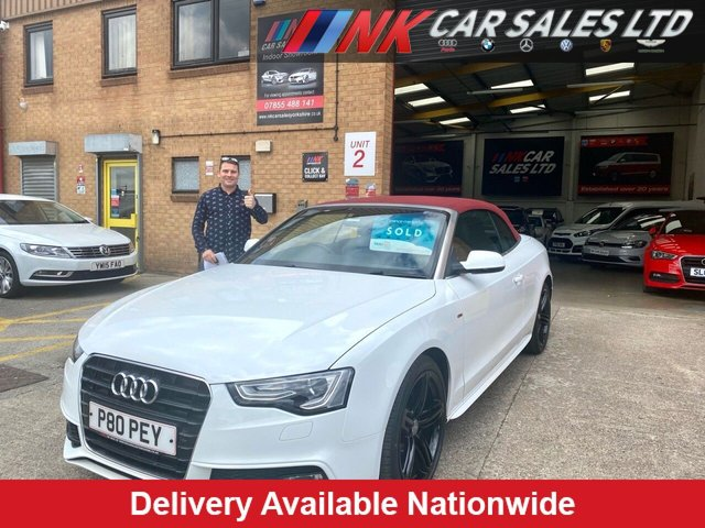 2013 P AUDI A5 2.0 TDI S LINE S/S 2d 177 BHP RED ROOF FULL LEATHERS 19 INCH ALLOYS 2013 MODEL SOLD TO ANDY FROM BATLEY
