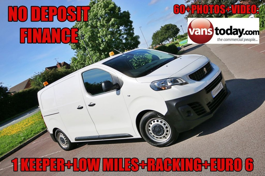 USED 2018 68 PEUGEOT EXPERT 1.6 BLUE HDI PROFESSIONAL STANDARD 115 BHP NO DEPOSIT FINANCE + LOW MILES + EXPENSIVE REAR RACKING