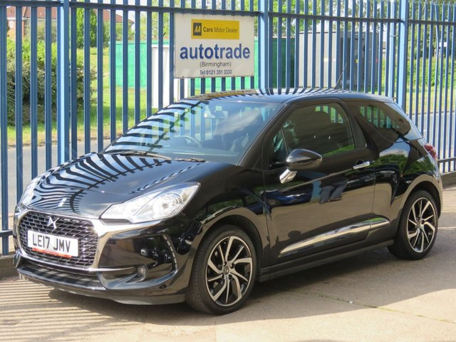 USED 2017 17 DS DS 3 1.2 PURETECH CONNECTED CHIC 3d 80 BHP. SAT NAV-CRUISE-BLUETOOTH-DAB SAT NAV-DAB-BLUETOOTH-CRUISE-REAR PARKING SENSORS-PRIVACY GLASS