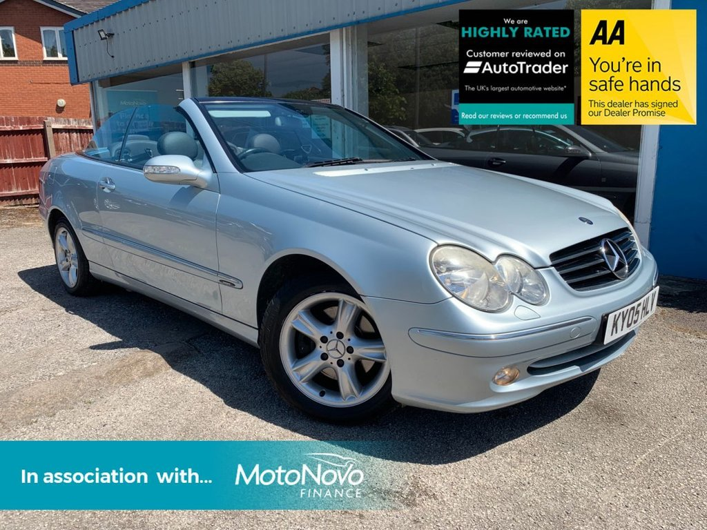 USED 2005 05 MERCEDES-BENZ CLK 1.8 CLK200 KOMPRESSOR AVANTGARDE 2d 163 BHP AUTOMATIC CONVERTIBLE, LEATHER, REAR PARKING AID, AIR CONDITIONING, CRUISE CONTROL