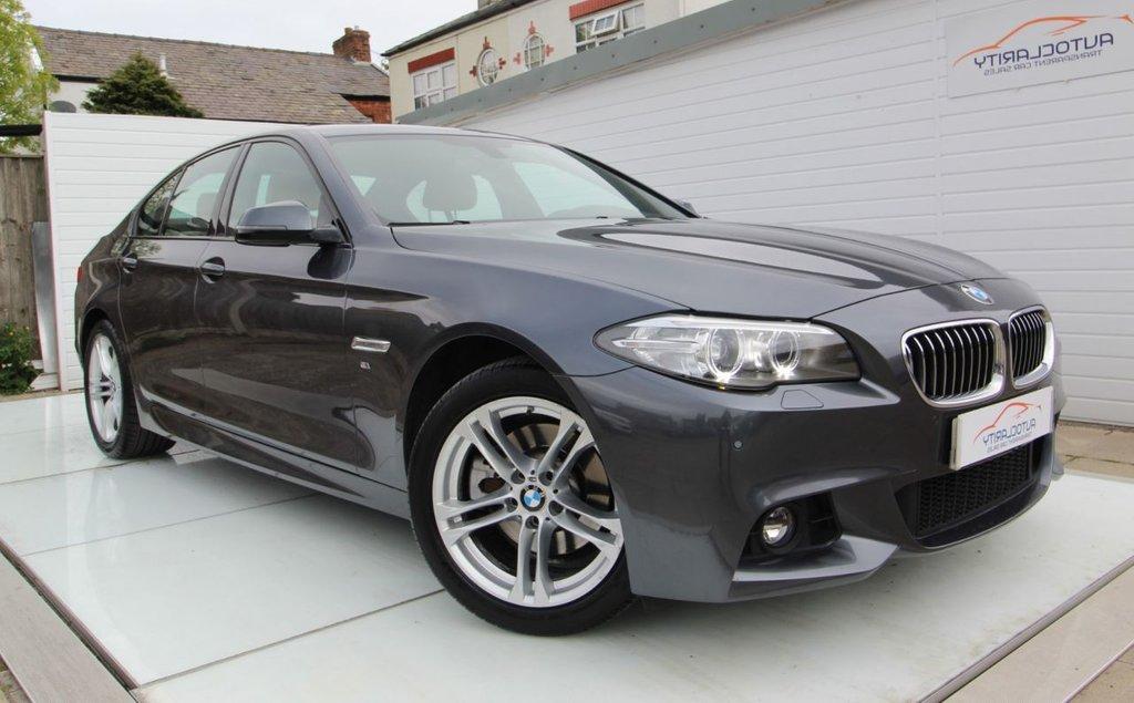 USED 2015 15 BMW 5 SERIES 2.0 520D M SPORT 4d 188 BHP Sat Nav - Full Leather - 2 Key