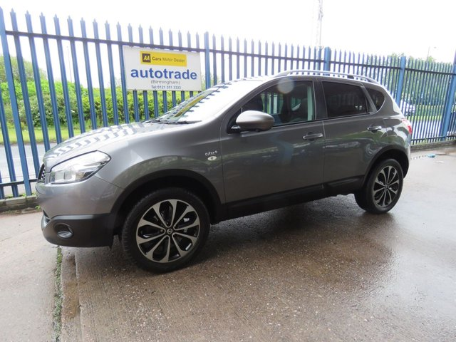 USED 2013 13 NISSAN QASHQAI 1.5 N-TEC PLUS DCI 5d 110 BHP SAT NAV, BLUETOOTH, 18 INCH  ALLOYS 360 DEGREE CAMERAS-PAN ROOF-AC-SAT NAV-ROOF RAILS-SERVICE HISTORY WITH 6 STAMPS TO 52000 MILES