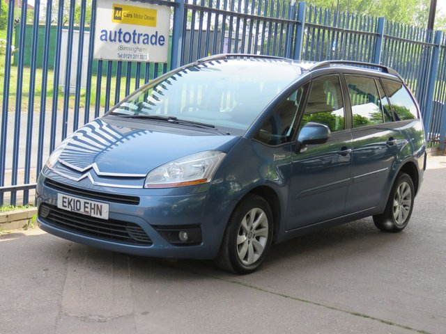 USED 2010 10 CITROEN C4 GRAND PICASSO 1.6 VTR PLUS HDI 5d 107 BHP 7 SEATS-AIR CON-ALLOYS-CRUISE-SERVICE HISTORY 7 STAMPS-ALLOYS-ABS