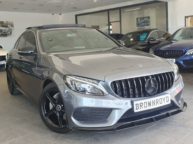 USED 2018 18 MERCEDES-BENZ C-CLASS 2.1 C 220 D AMG LINE PREMIUM 4d 170 BHP BRM BODY STYLING+PAN ROOF