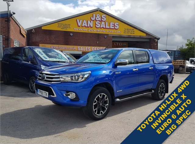 USED 2018 18 TOYOTA HI-LUX  INVINCIBLE X 4WD D-4D DCB AUTOMATIC  EURO 6  TOYOTA INVINCIBLE MODEL X AUTO LOW MLS EURO 6