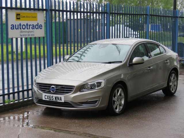 USED 2015 65 VOLVO S60 1.6 D2 SE LUX 4d 113 BHP DAB, Full Leather, Heated Front Seats