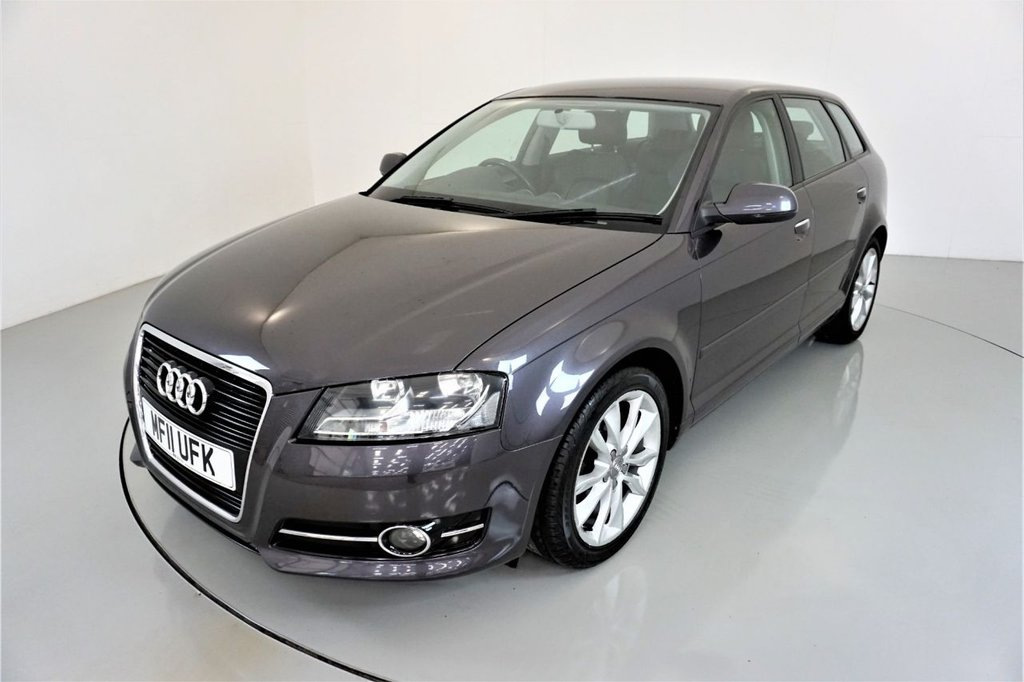 USED 2011 11 AUDI A3 1.6 TDI SPORT 5d-2 OWNER CAR-20 ROAD TAX-HEATED BLACK LEATHER-ALLOY WHEELS-CLIMATE CONTROL