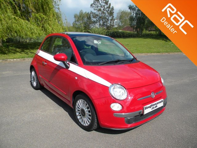 USED 2010 10 FIAT 500 1.2 LOUNGE 3d 69 BHP Adapted For Campervan Towing! Full Independent Braking System And A Frame, Low Mileage, Sunroof