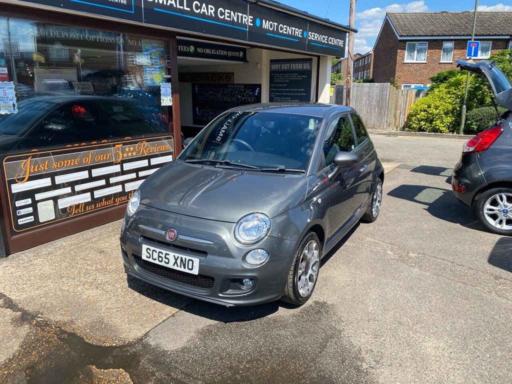 USED 2015 65 FIAT 500 1.2 S 3d 69 BHP BLUETOOTH - USB - AUX - AIRCON - REAR PARKING SENSORS - CRUISE CONTROL