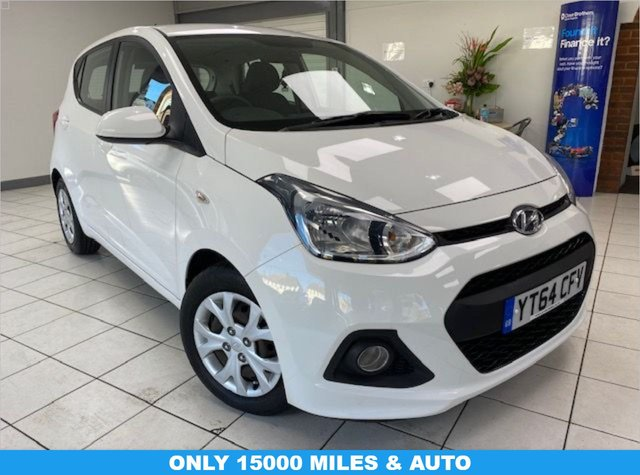 USED 2014 64 HYUNDAI I10 1.2 SE 5d 86 BHP / AUTOMATIC PURE WHITE / CLOTH TRIM / AIRCON / ELECTRIC WINDOWS / AUTOMATIC / ONLY 15218 MILES