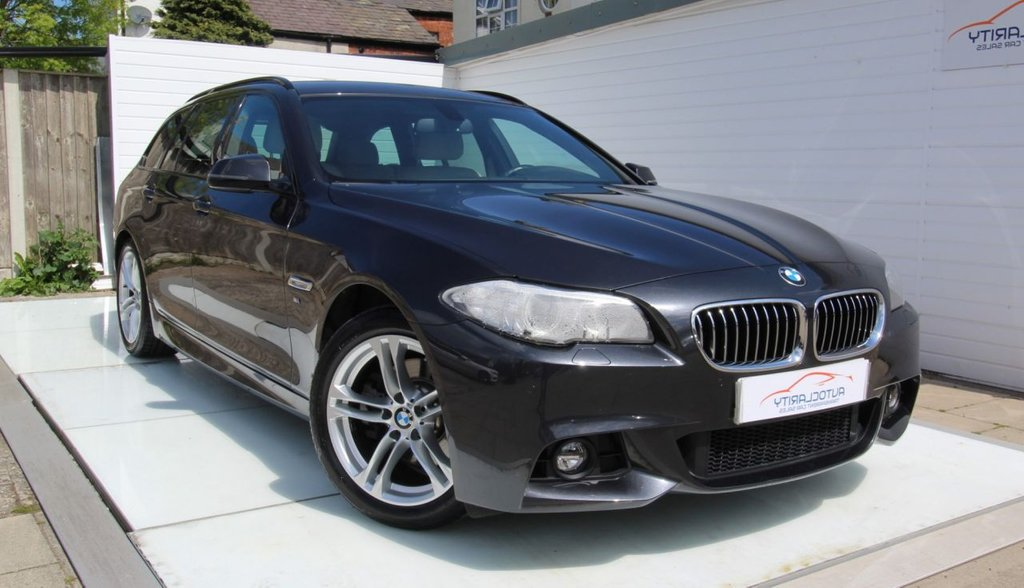 USED 2014 14 BMW 5 SERIES 2.0 520D M SPORT TOURING 5d 181 BHP Over 4K of Options - 2 Keys
