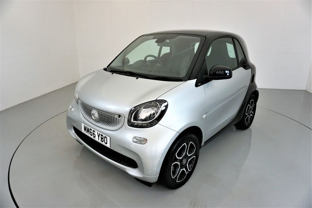 USED 2016 66 SMART FORTWO 1.0 PRIME PREMIUM 2d AUTO-2 OWNER CAR-PANORAMIC ROOF-BLACK LEATHER-BLUETOOTH-CRUISE CONTROL-SATNAV-AIR CONDITIONING