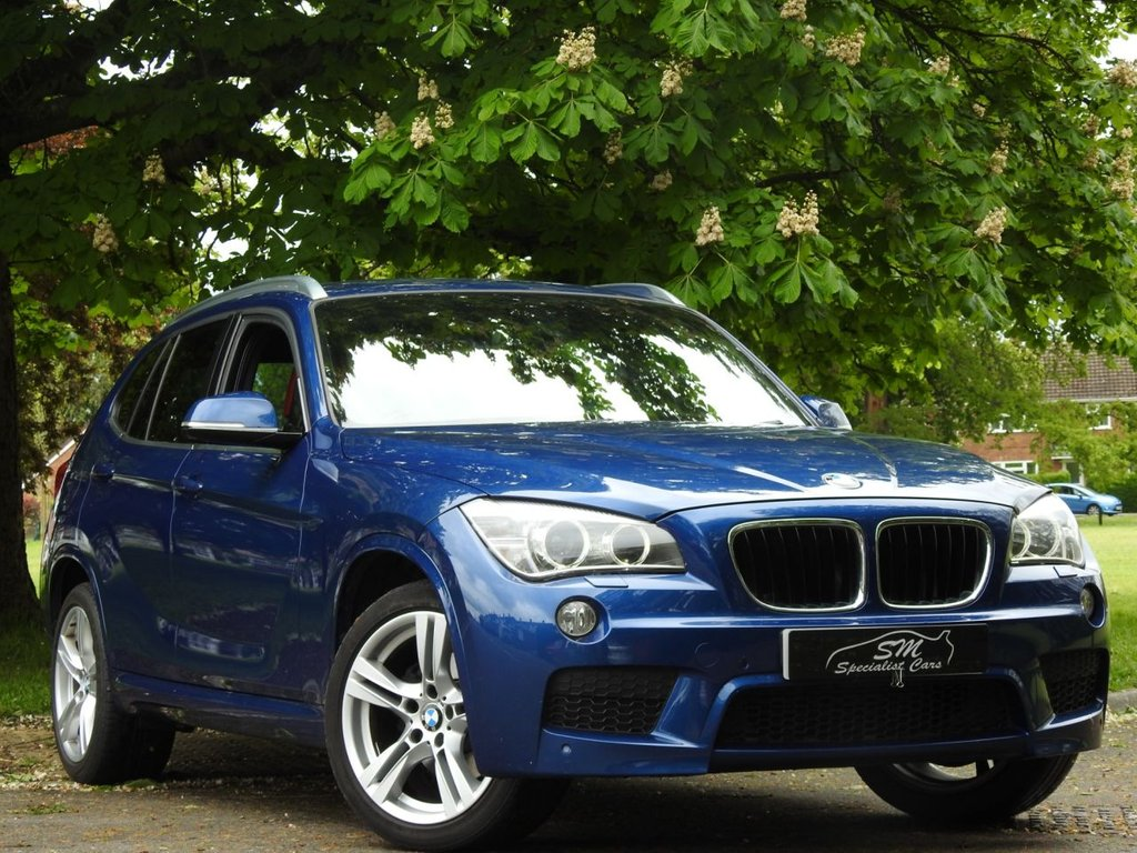 USED 2014 63 BMW X1 2.0 XDRIVE20I M SPORT 5d 181 BHP ONLY 57K FROM NEW RED LEATHER A/C